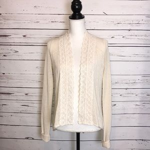 Field flower Anthropologie open front cardigan